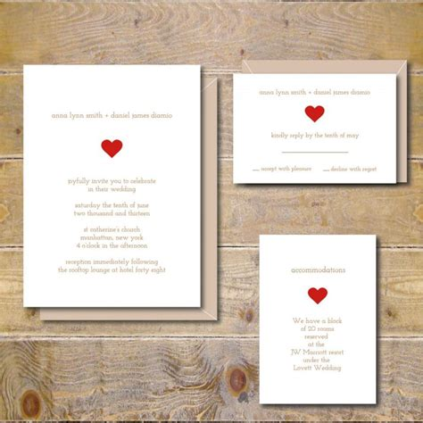 Einfache Hochzeitseinladungen by Simple Wedding Invitations Rustic Wedding Invitations