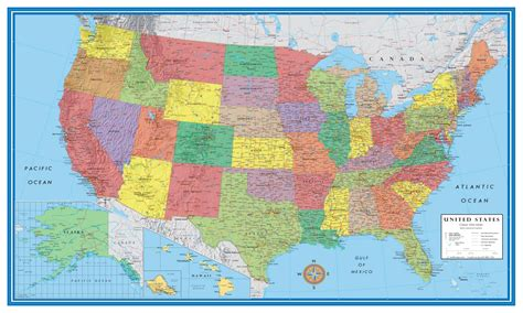 map usa for usa map poster large frtka