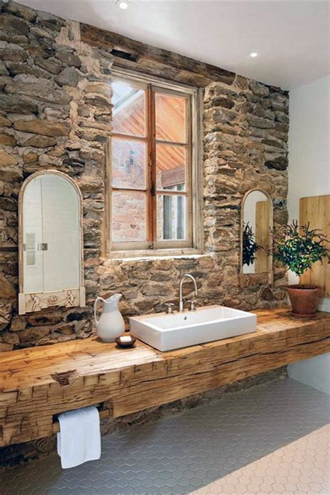 brick bathroom wall gorgeous home decor with exposed stone walls