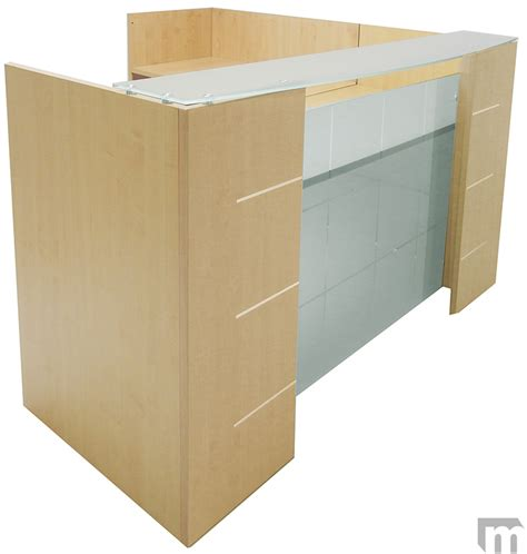 l shaped reception desk l shaped glass front reception desk