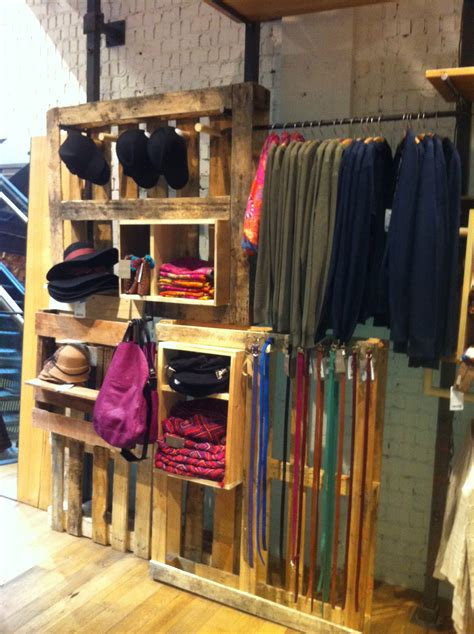 Wardrobe Shop by Anthropologie Pallets Make Great Fixtures