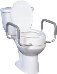 Bio Bidets Toilet Seat Riser With Removable Arms Bathroom Safety