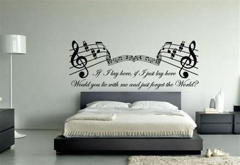 bedroom walls lyrics latest music themed wall art ideas for bedroom home