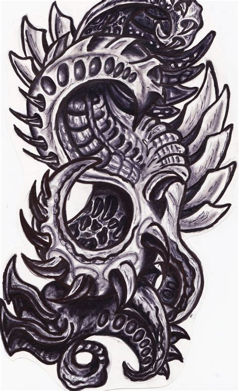 biomechanical tattoo design 2 tattoo picture photos and