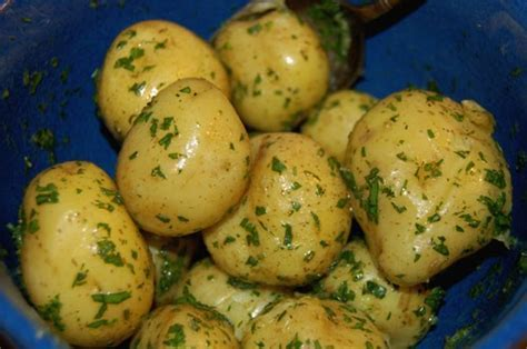 Steamed Potatoes With Herb Butter   The Garden of Eating