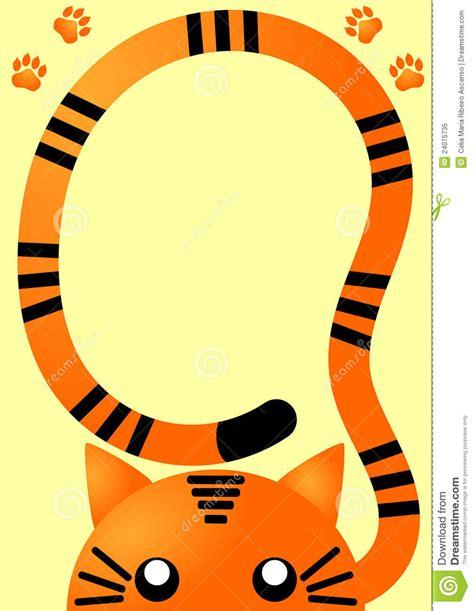 Orange Tiger Invitation Card Royalty Free Stock Photo