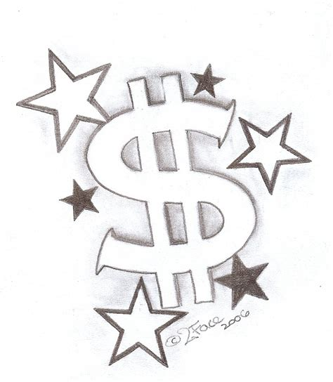 money sign tattoos tattooflash dollar with by 2face on deviantart