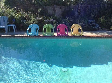 outdoor plastic pool chairs repurposed white plastic chairs to painted pool chairs