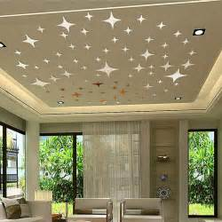 Home Ceiling Decoration by 50pcs Twinkle Stars Ceiling Decor 2014 Crystal Reflective