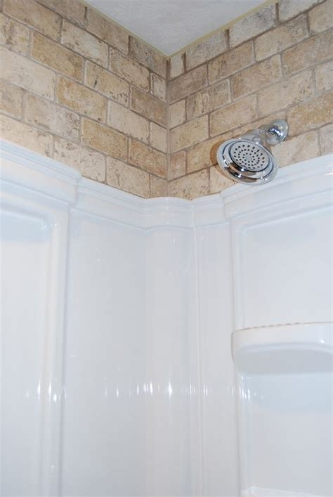 Large Shower Inserts Tile Above Insert It S A Country For Me
