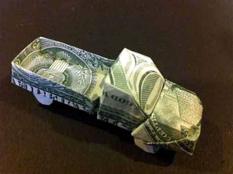 Dollar Bill Origami Car - beautiful dollar bills and trucks on
