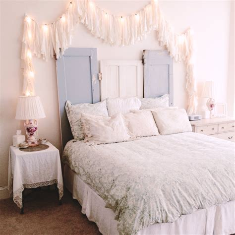 how to do shabby chic bedroom how you can use string lights to make your bedroom look dreamy