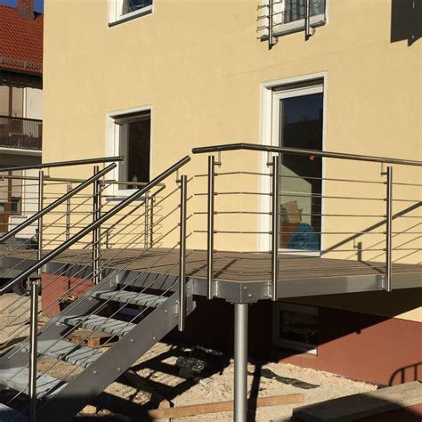 edelstahlgeländer mit glas balkone terrasse aussen gel 228 nder 254 3