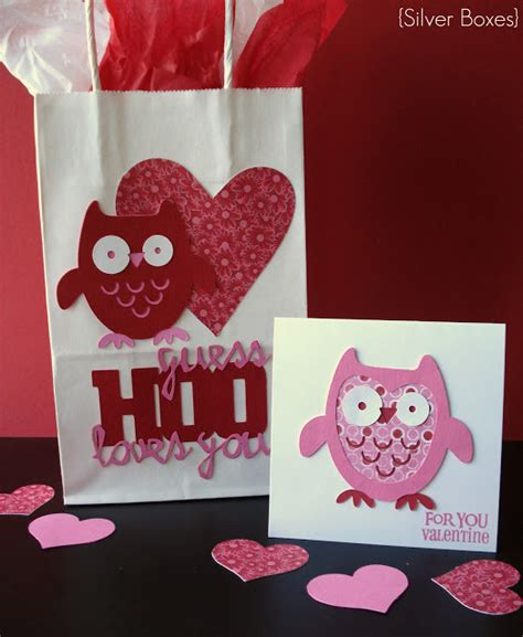silver boxes quot guess hoo you quot bag card