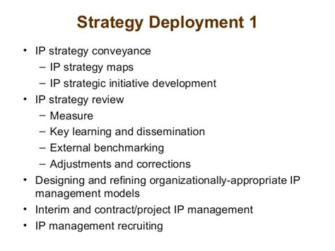 Intellectual Property Strategy Ip Strategy Template