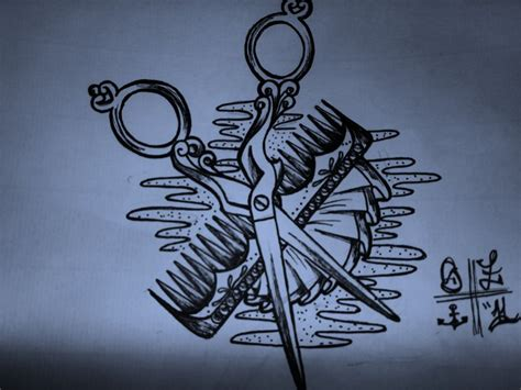 hairdresser tattoo designs scissor sketch by shellyztrueheartink on deviantart