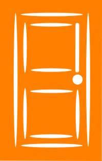 orange door clip at clker vector clip