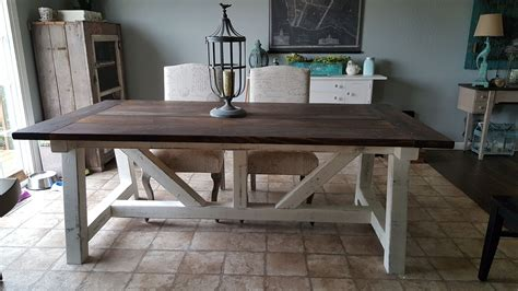 truss beam farm table    home projects