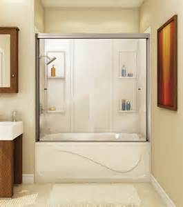 Corner Shower Bath Combo maax 60 quot canvas 3 16 quot two panel frameless glass sliding