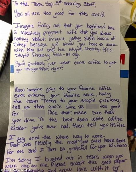 Thank You Letter Reddit shares thank you note on reddit from heartbroken