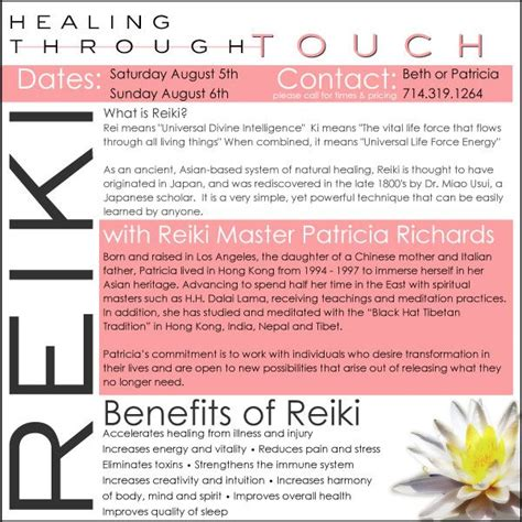 10 Best Images About Reiki On Pinterest Reiki Massage And Cas Free Reiki Brochure Template