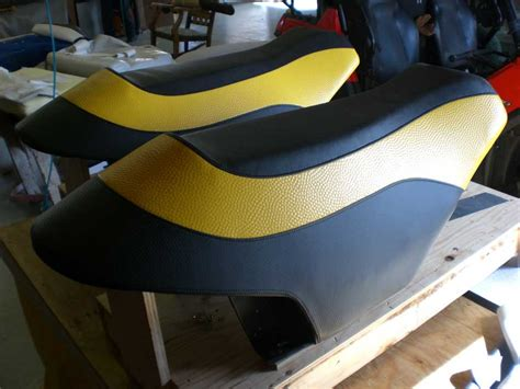 motorbike seat upholstery black and yellow custom motorcycle seats kirkham upholstery