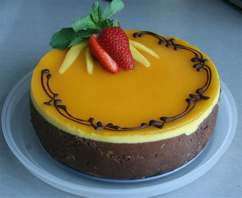 mango mousse cake cakes desserts and more