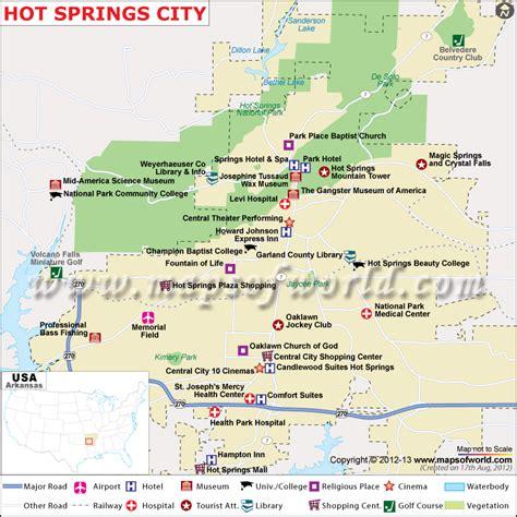 map usa springs map arkansas map
