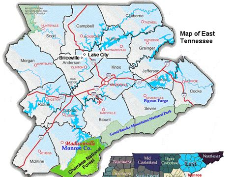 map of east tennessee llanelliwales