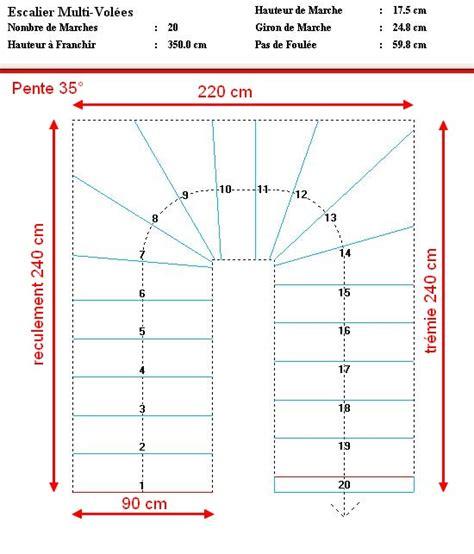 Construire Un Escalier Extérieur 995 by Dimension Escalier Quart Tournant Maison Design Apsip
