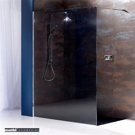 Smoked Glass Shower Doors Matki Room Shower Panel Uk Bathrooms