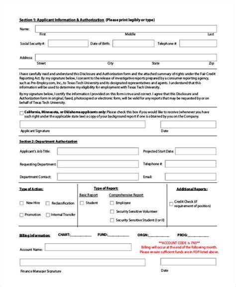 Background Check Authorization Form California Background Check Authorization Form Resume Template
