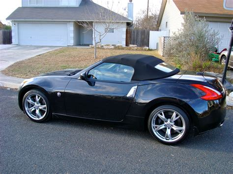 nissan convertible black 370z roadster black