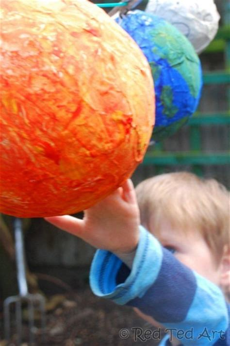 How To Make A Paper Mache Sun - paper mache solar system family crafts