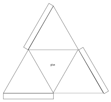 How To Make 3d Triangle With Paper - 3d triangle templates printable shapes terrarium ideas