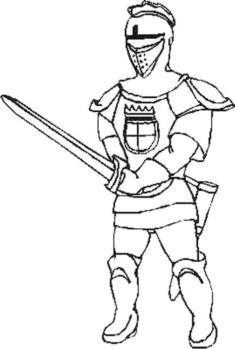 Knight Coloring Pages Knights Colouring Pages