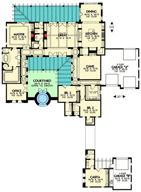center courtyard house plans tuscan luxury 25 best ideas about mediterranean homes plans on