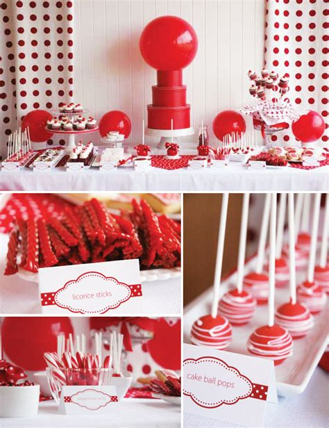 party themes classic real parties classic red ball birthday hostess with