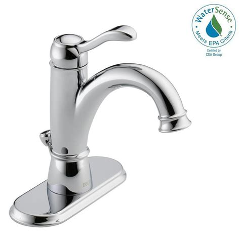 Delta Porter Bathroom Faucet Delta Porter 4 In Centerset Single Handle Bathroom Faucet In Chrome 15984lf Eco The Home Depot