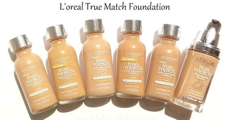L Oreal True Match makeupbyjoyce swatches comparison l oreal true