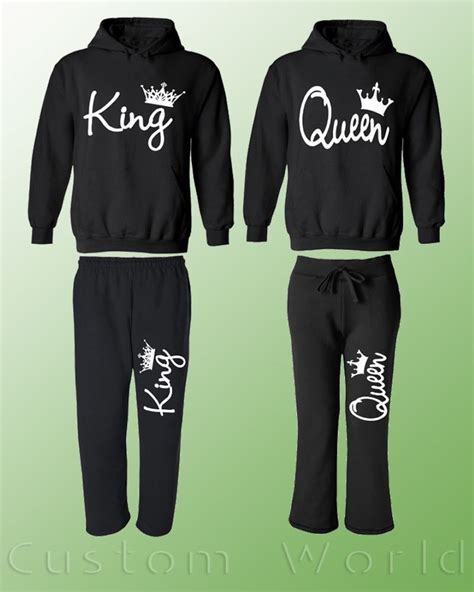 couple hoodie boy king girl queen and new design couple king queen couple matching set hoodie and sweatpants his