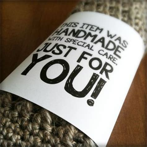 Care Labels For Handmade Items - 46 best images about care labels on gift