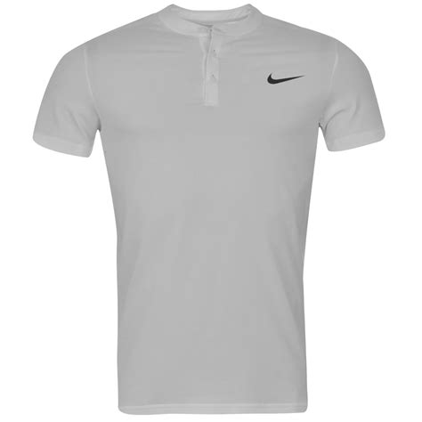 Tshirt Roger Federer nike premier roger federer henley t shirt mens white