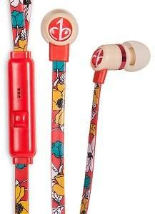 Chicbuds Arts Earbudsmicrophone Camille chic tangle free arts earbud headphones with microphone retro poppy discontinued