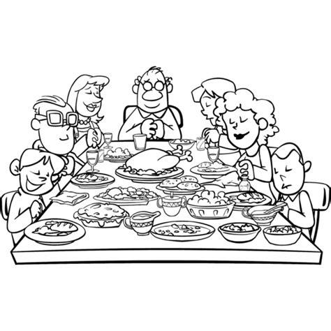 tavola disegno disegno di famiglia a cena da colorare per bambini