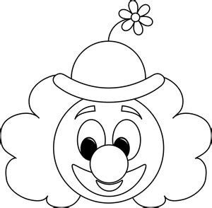circus clown clipart image cartoon clown outline good