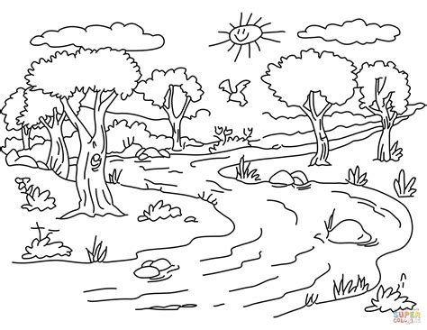 river colors river landscape coloring page free printable coloring pages