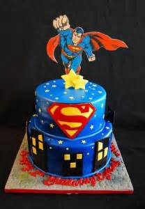 superman birthday cake ideas