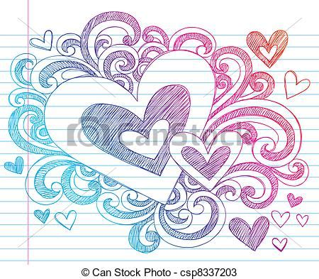 how to draw doodle lines vectors of valentines day sketchy doodle
