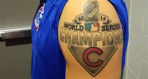 javy baez got a big new tattoo to celebrate the cubs